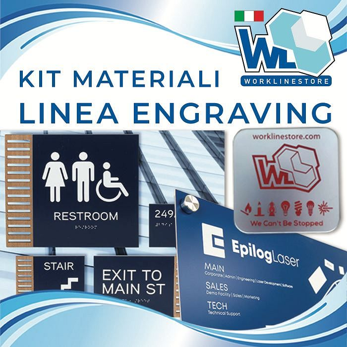 Kit materiali linea ENGRAVING