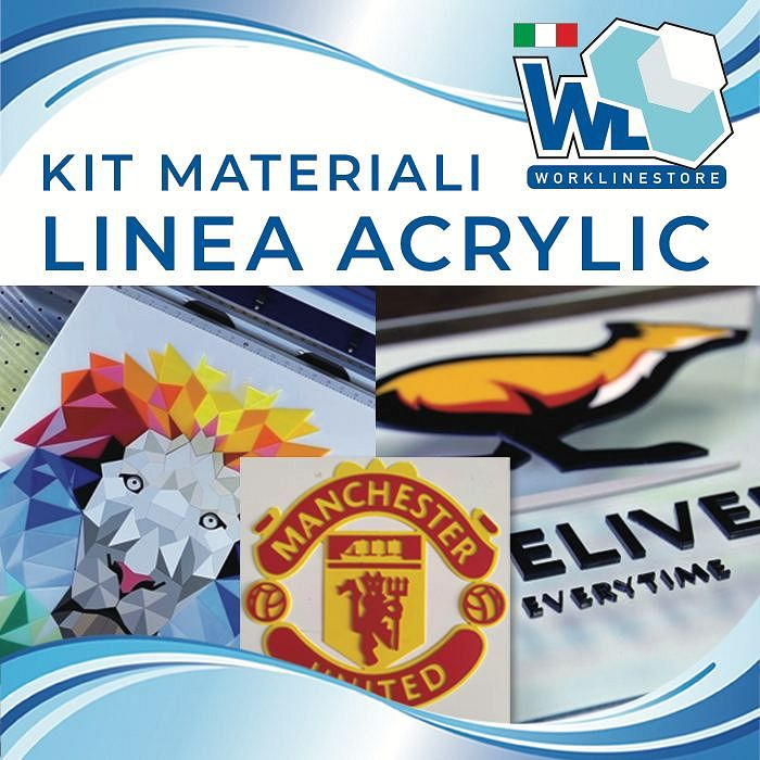Kit materiali linea ACRYLIC